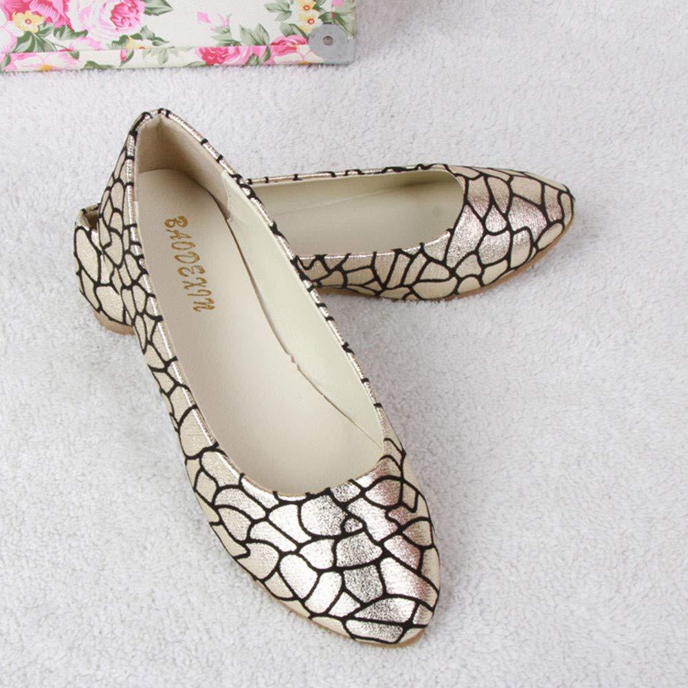 Ballerines en Cuir Pointure Chaussures Plates Femme Mocassins Casual Flat
