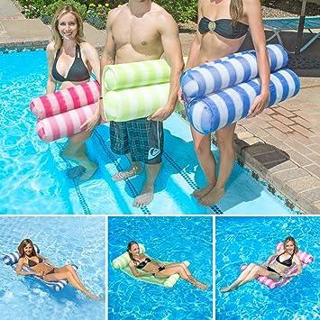 Seogva Prima Piscina Playa Hamaca de agua flotante Sillón Cama flotante Nadar anillo de flotación inflable y Oceano Lilo 133*66*22CM