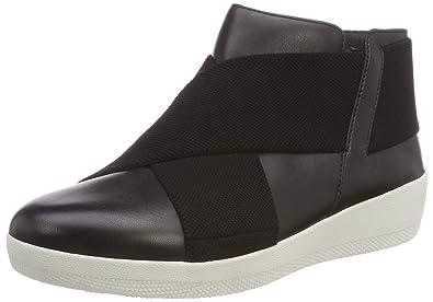 91672a89edba FitFlop Women s Superflex Tm Ankle Boot Hi-Top Trainers (Black 001)