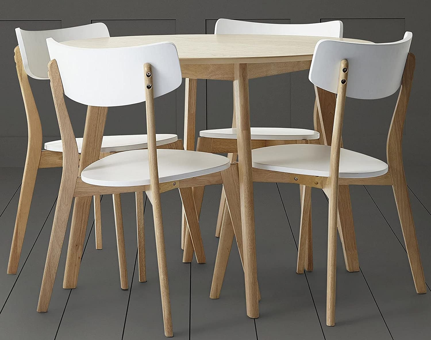 Tesco Charlie Round Dining Table & 11 Chair Set - Oak Effect
