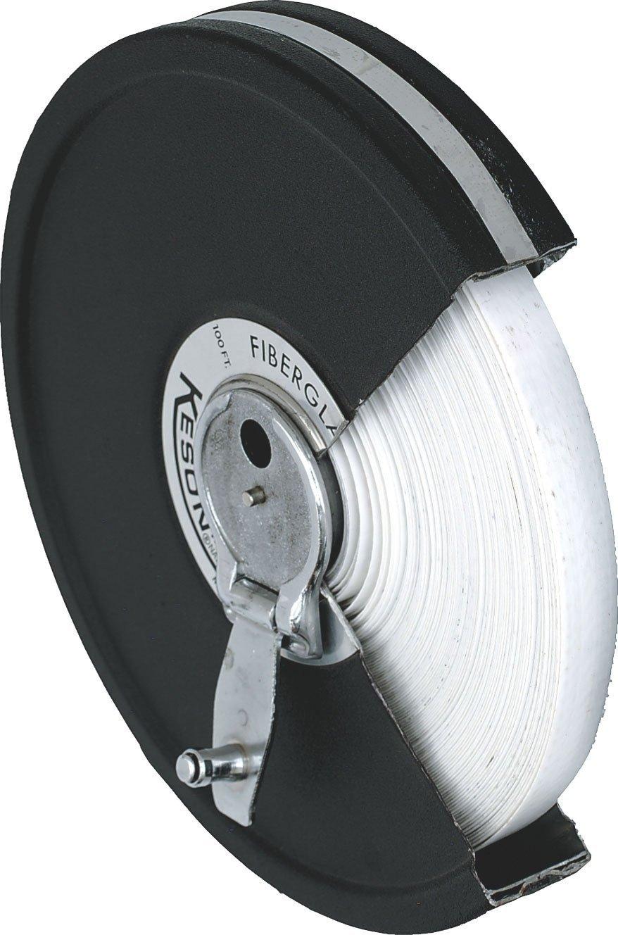 Keson MC1850 Closed Metal Housing Fiberglass Measuring Tape (Graduations: ft, in, 1/8), 50-Foot