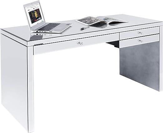Kare Design - Escritorio (140 x 60 cm), Color Plateado: Amazon.es ...