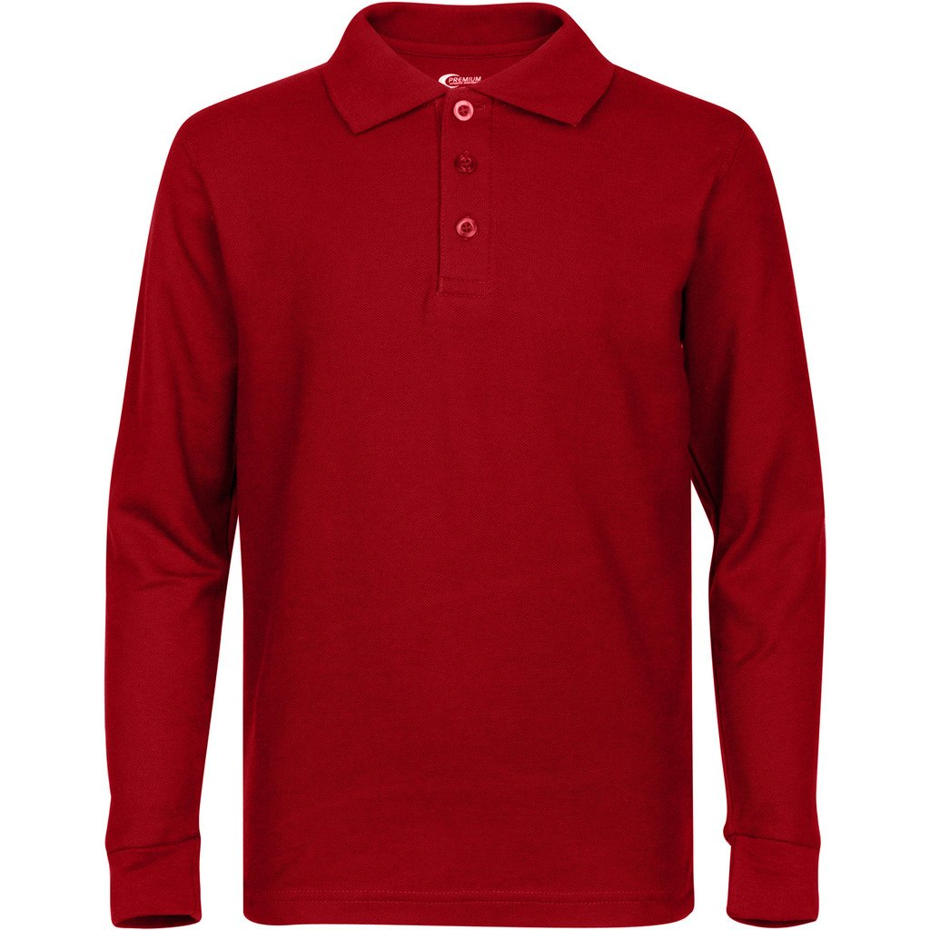 050686a1 ... Premium Men's Long Sleeve Polo Shirts – Stain Guard Polo Shirts ...