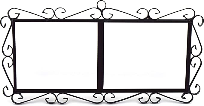 Image of ART ESCUDELLERS Soporte Marco metálico en Color Negro para Azulejos Letras/numeros/simbolos para el diseño Jardin (Soporte para 5 Piezas) 40,5cm x 21cm x 1cm
