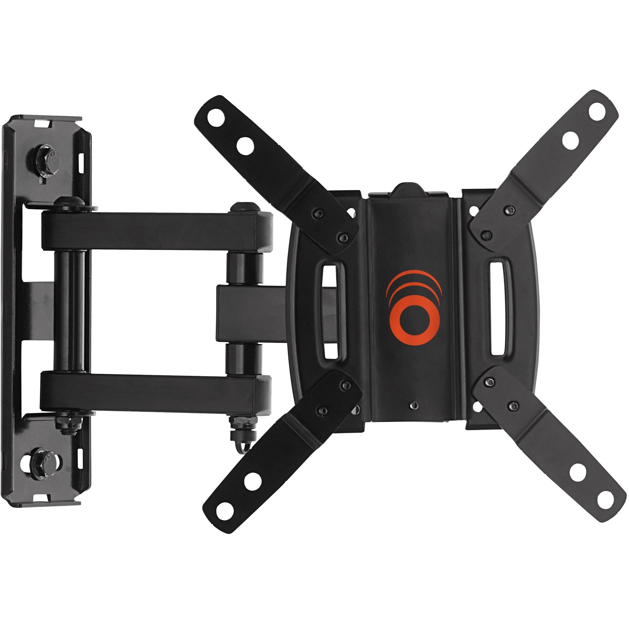 ECHOGEAR Full Motion Articulating TV Wall Mount Bracket for most 15-39 inch TVs & Computer Monitors Featuring 10.5'' of Extension, 90º of Swivel, 16º of Tilt - EGSF1-BK