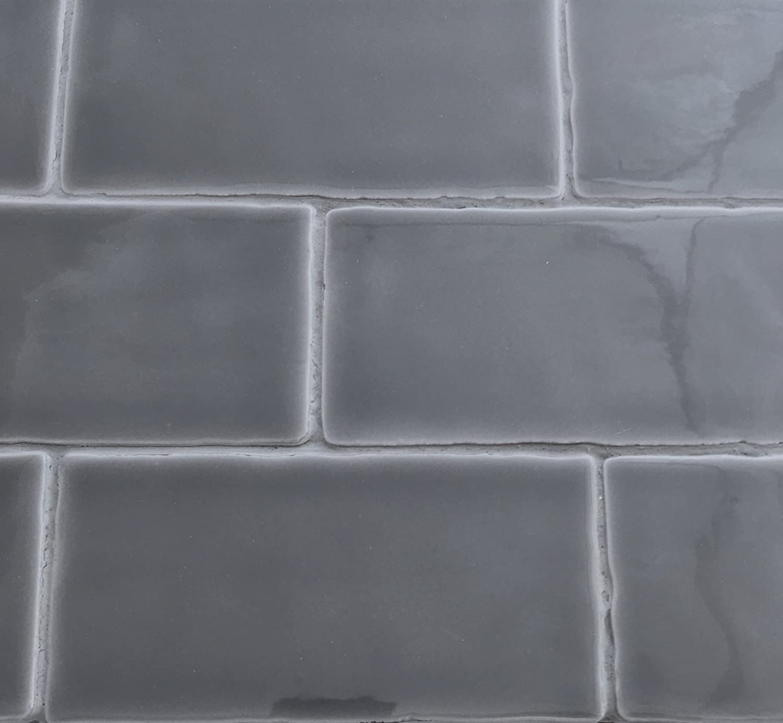 - Amazon.com: 3x6 Graphite Dark Gray Glossy Glazed Subway Ceramic
