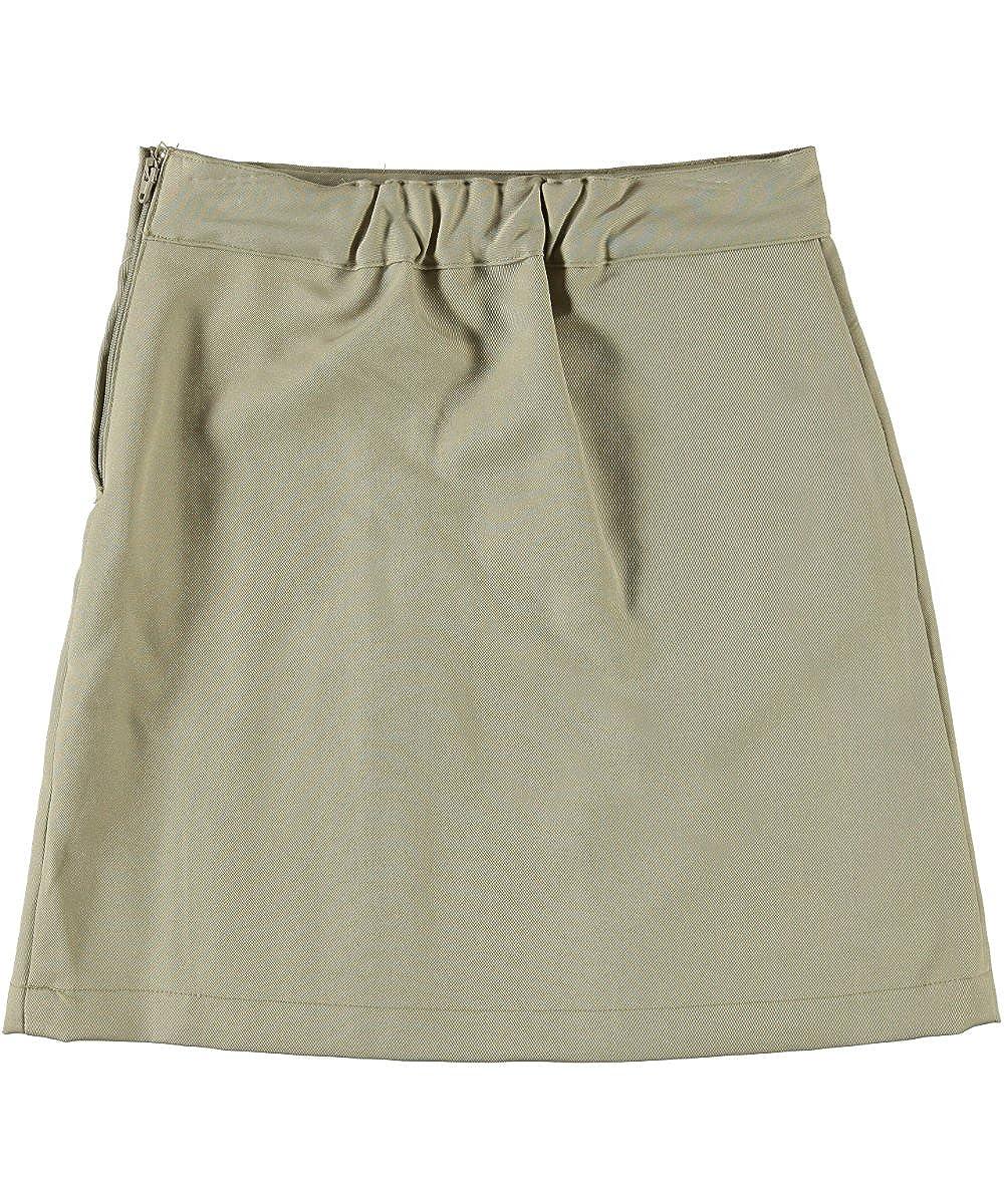 Khaki French Toast Little Girls Pleat /& Tab Skirt 4