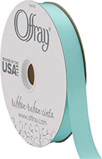 """product image for Offray Berwick 7/8"""" Double Face Satin Ribbon, Aq"""