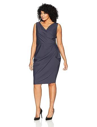 d23c862a104 Alex Evenings Women s Plus Size Short Side Ruched Stretch Dress Charcoal 14W