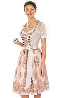 4c6b0562378987 Krüger Dirndl 12826 233 rosa 60er Länge Glitzer elegant: Amazon.de ...