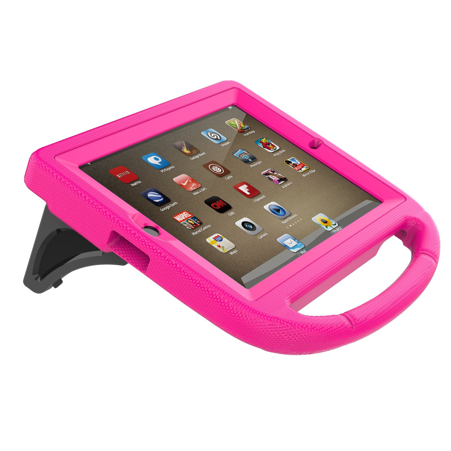 LTROP iPad 2 3 4 Kids Case - Light Weight Shock Proof Handle Friendly Convertible Stand Kids Case with Bulit in Screen Protector for iPad 2, iPad 3rd Generation, iPad 4th Generation,Rose by LTROP (Image #8)
