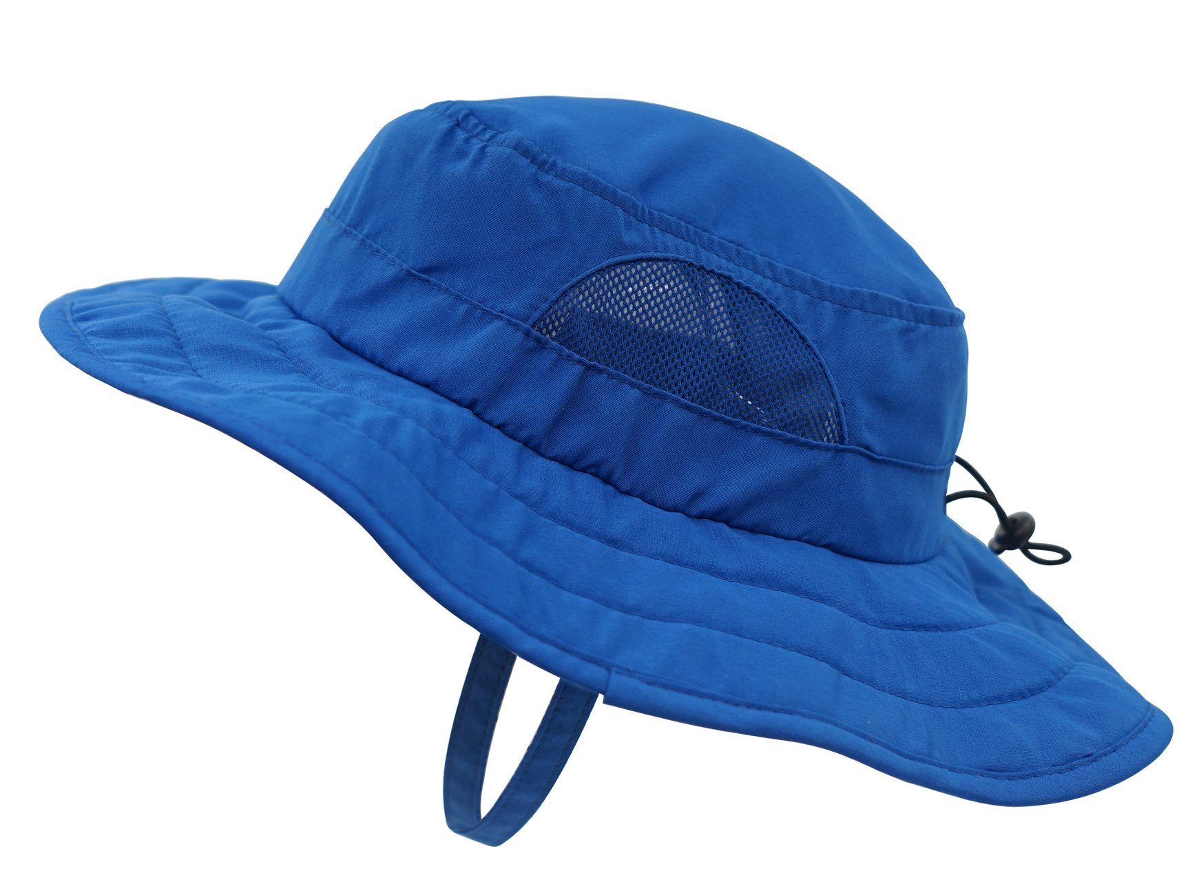 Connectyle Kids UPF 50+ Mesh Safari Sun Hat UV Sun Protection Hat Summer Daily Bucket Play Hat Blue