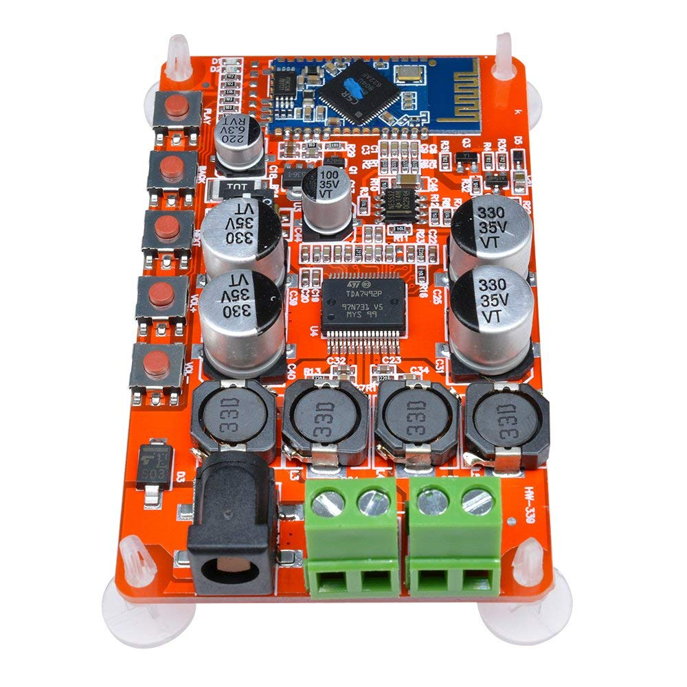 Aideepen 50w Tda7492p 2x50 Watt Dual Channel Uniton 50 60 Amplifier Head Wiring Diagram Wireless Digital Bluetooth 40 Audio Receiver Board Red Electronics