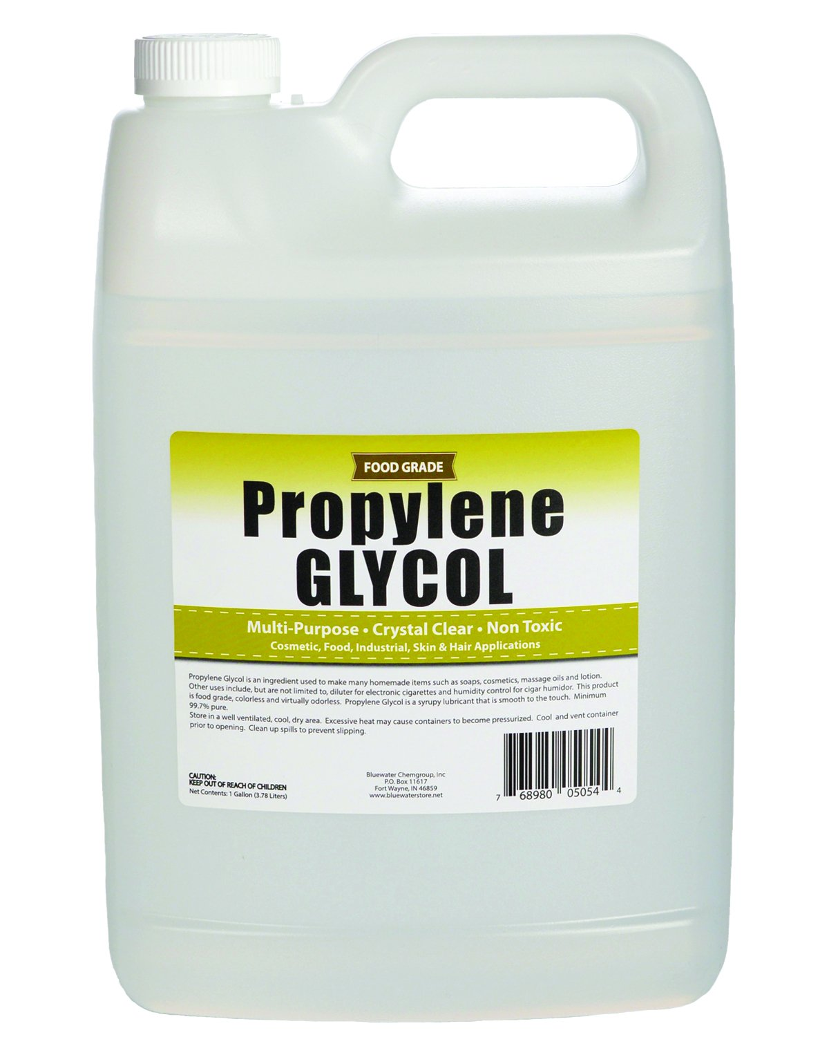 Sanco Industries Propylene Glycol - 1 Gallon - USP Certified Food Grade - Highest Purity, Humectant, Fog Machine, Humidor & Antifreeze Solution, DIY, Kosher
