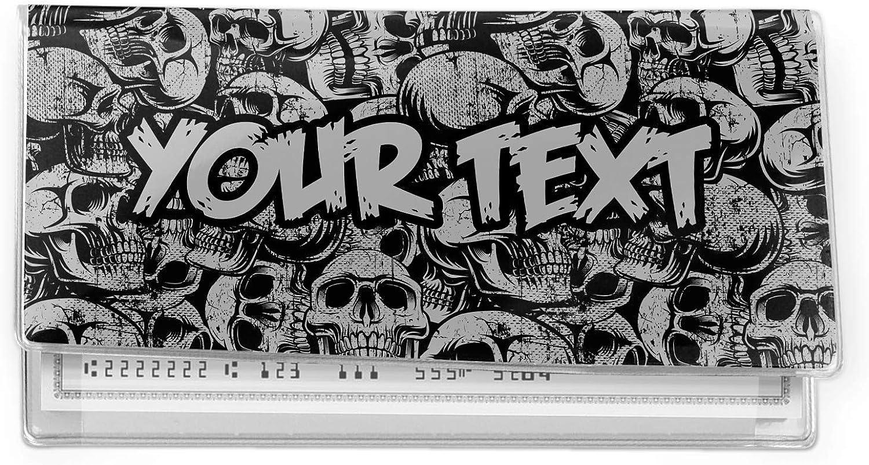 Skulls Vinyl Checkbook Cover (Personalized)