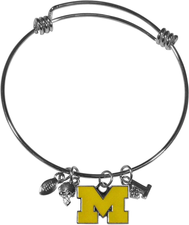 Siskiyou NCAA Michigan Wolverines Charm Bangle Bracelet
