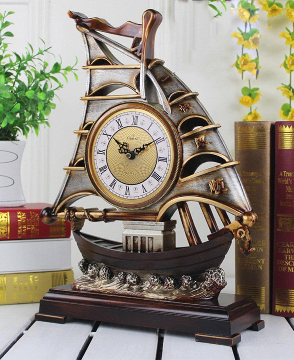 ZHENAI スタイリッシュなシンプルな時計、リビングルーム時計、ガーデンデスククロック ( 色 : A ) B07BXKMNWNA