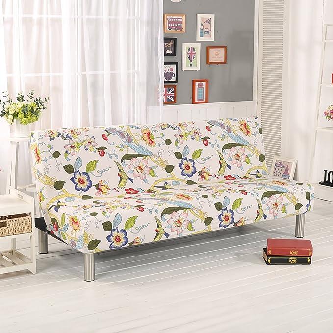 Fastar Funda de Clic-clac elástica, Funda Cubre Protector sofá de 3 plazas,Impresión Floral (E)