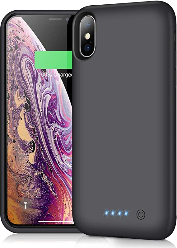 5000mAh Portable Protective Charging Battery Case Extended Rechargeable Battery Pack Charger Case for iPhone Xs Max 6.5 inch iPhone Xs Max Smart Battery Case