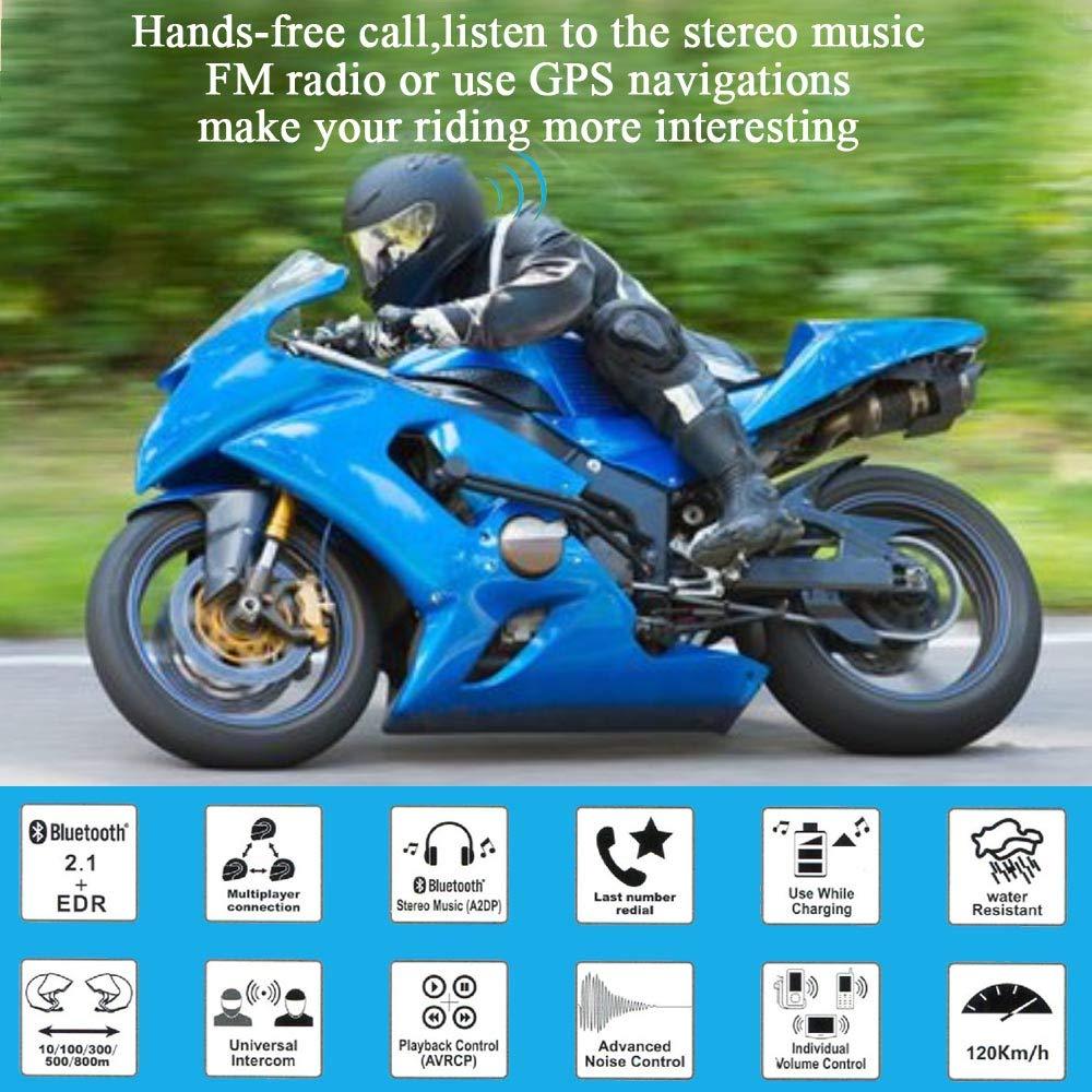 comando vocale FreedConn Moto Motocicletta Casco Bluetooth TCOM-VB Intercom Interphone radio FM musica stereo 1 pezzi auricolare duro collegare fino a 3 ciclisti autonomia 800 m