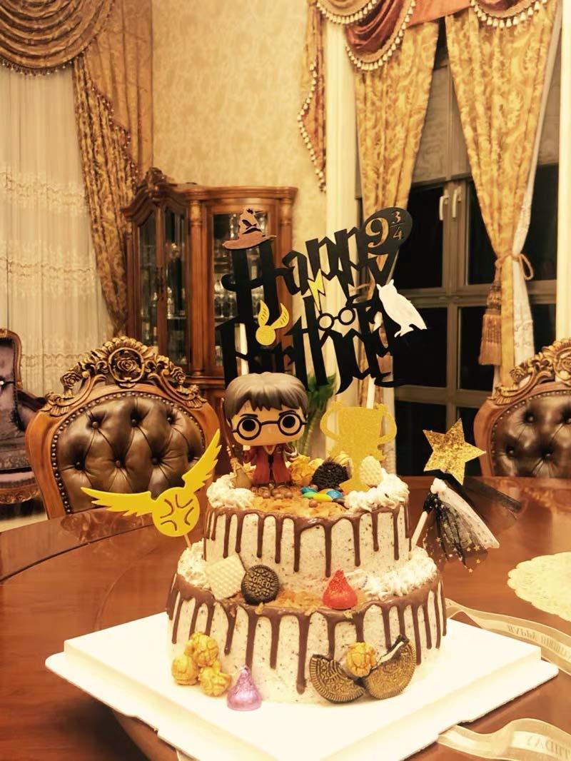decorazioni per feste di compleanno JeVenis Topper per torta di compleanno a tema Harry Potter per ragazzi