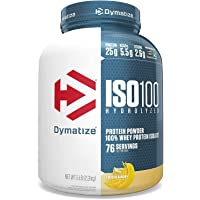Dymatize ISO 100 Whey Protein Powder with 25g of Hydrolyzed 100% Whey Isolate, Gluten Free, Fast Digesting, Smooth…