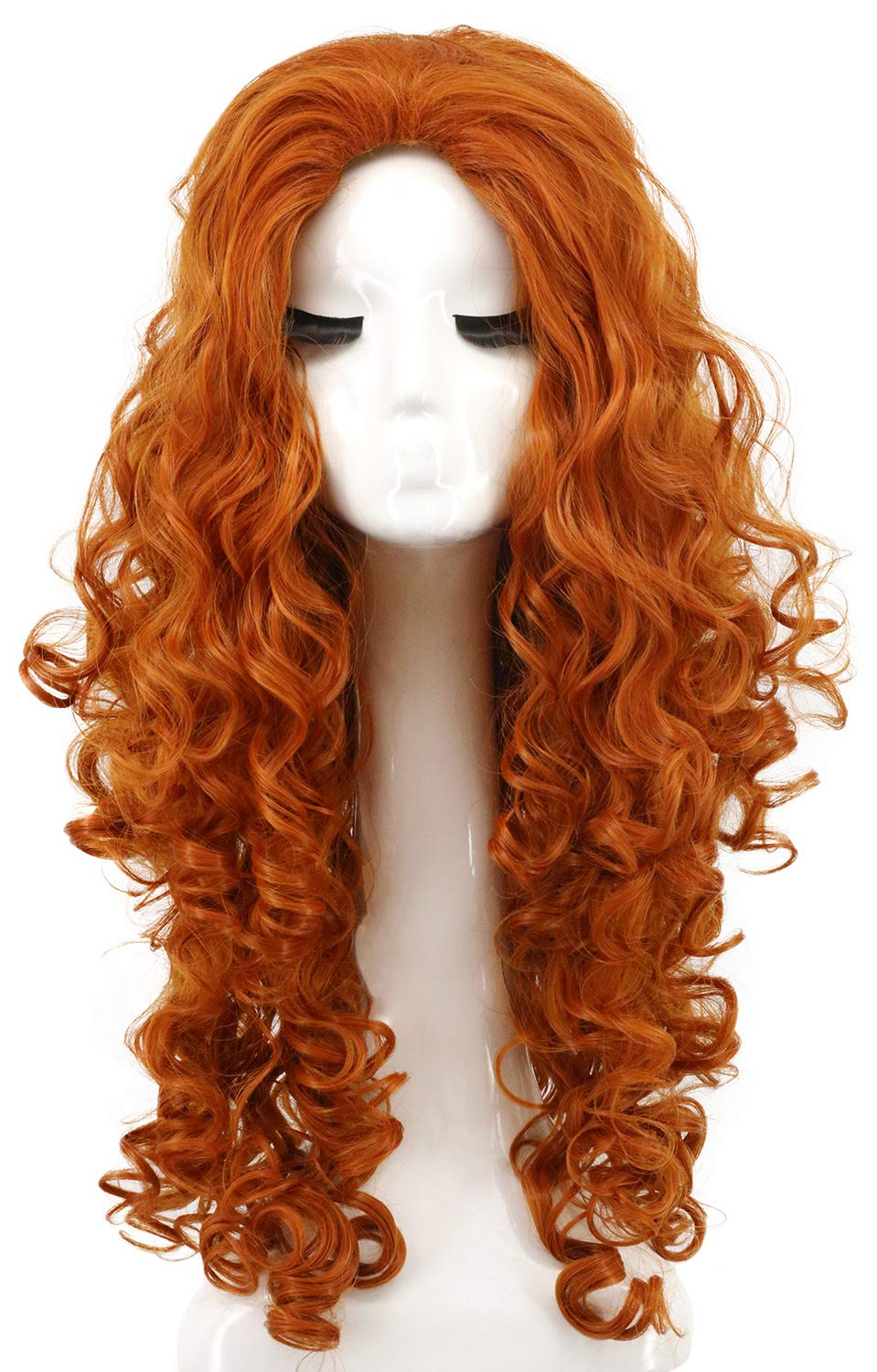 Long Red Temptress Wig Curly Style Halloween Fancy Dress