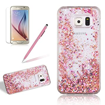 coque galaxy s6 edge paillette liquide