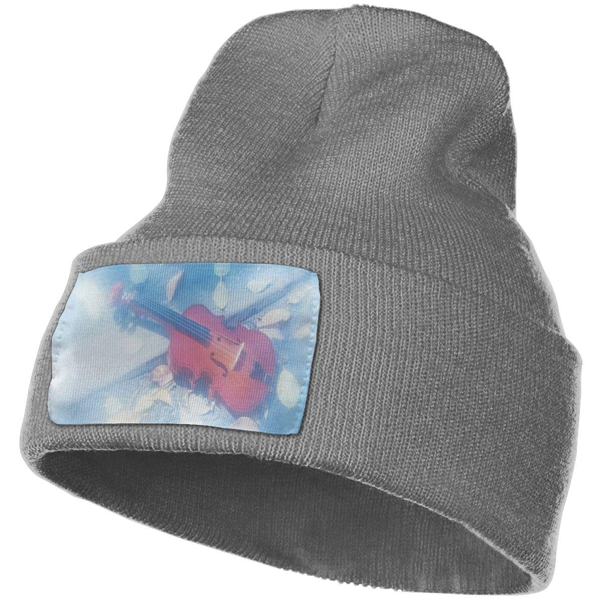 JimHappy A Romantic Violin Hat for Men and Women Winter Warm Hats Knit Slouchy Thick Skull Cap