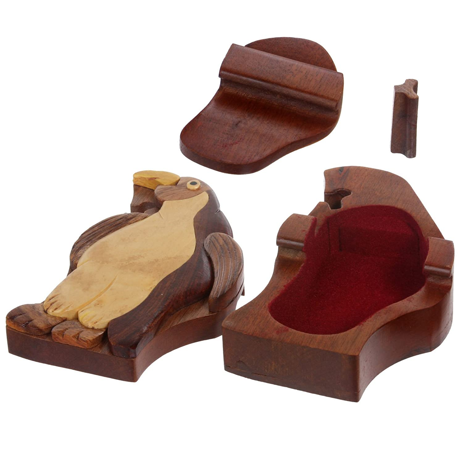 Amazon.com: Handcrafted de Madera animal forma Secreto joyas ...
