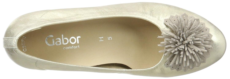 Gabor Silber Damen Comfort Pumps, Blau Silber Gabor (Platino/Puder 63) f63c27