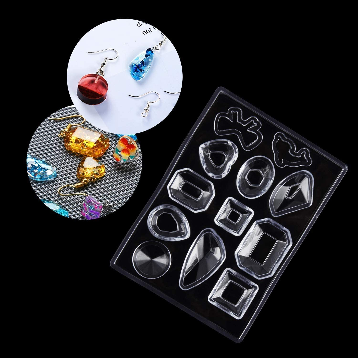 Bracelet Molds and Necklace Molds Kits ZHIHU 249 Pcs Silicone Resin Casting Molds for Jewelry Making set ,Resin Jewelry Molds Epoxy Resin Earring Molds Pendant Molds