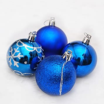 6cm painted gold powder mixed type christmas light ball painted christmas balls 8 pcs