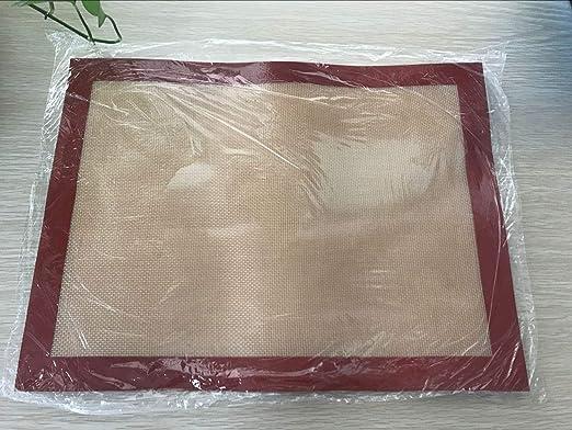Amazon.com: Alfombrilla para horno, antiadherente, de silicona y Rojo-Marrón: Kitchen & Dining
