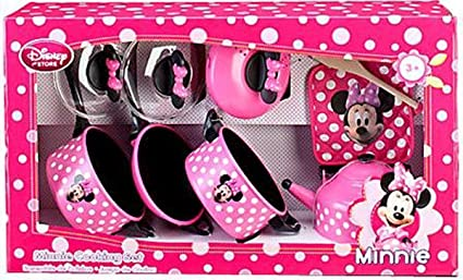 Amazon Com Disney Store Minnie Mouse Kitchen Play Set Pots N Pans