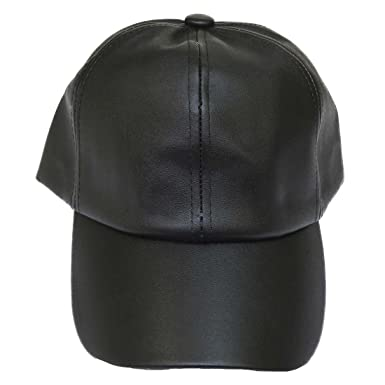 Image Unavailable. Image not available for. Color  Corona Collection Faux Leather  Baseball Cap Black 58522ee22e3