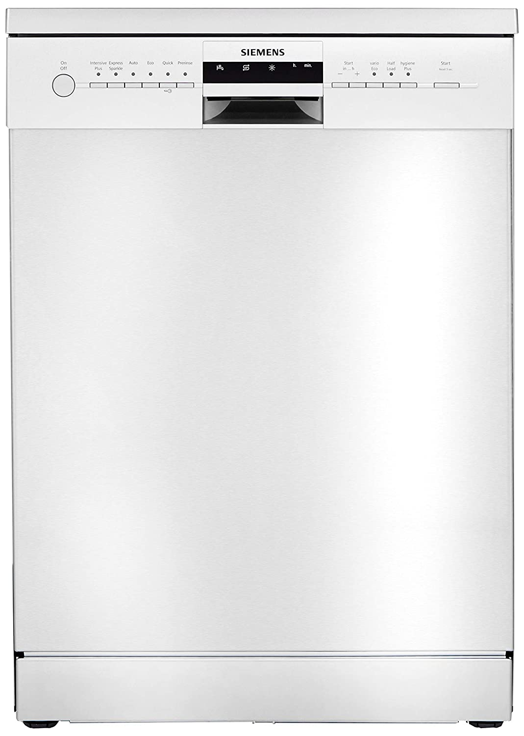 7. Siemens 12 Place Settings Dishwasher (SN256I01GI, Silver Inox)