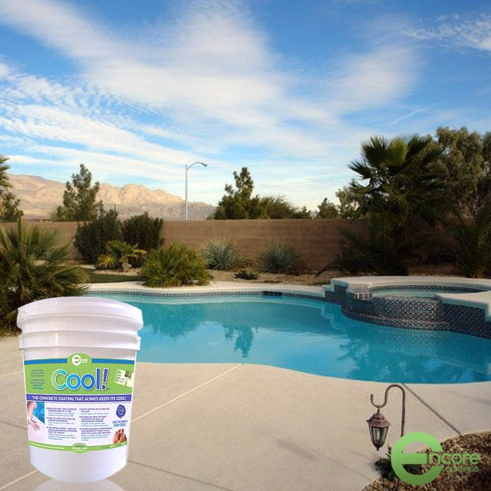810c36429d2 Amazon.com : Cool Decking Pool Deck Paint - Coating for Concrete and Decks  - Waterproof Concrete Paint that Repairs, Seals, and Cools Your Pool Deck  ...