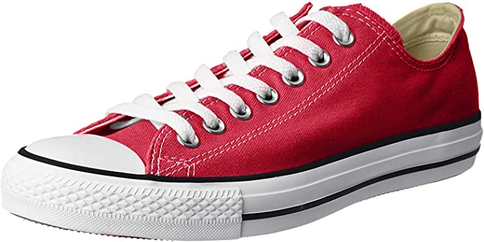 Converse Chucks (Chuck Taylor) All Star Ox Low Tops Unisex Damen Herren Rot