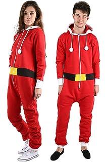 adults unisex mens ladies christmas elf santa onesie costume outfit plus size