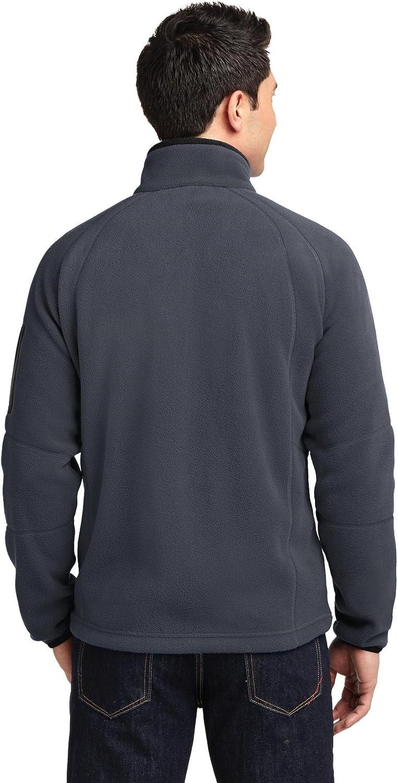 Port Authority Enhanced Value Fleece Full-Zip Jacket F229 Grey Black 3XL