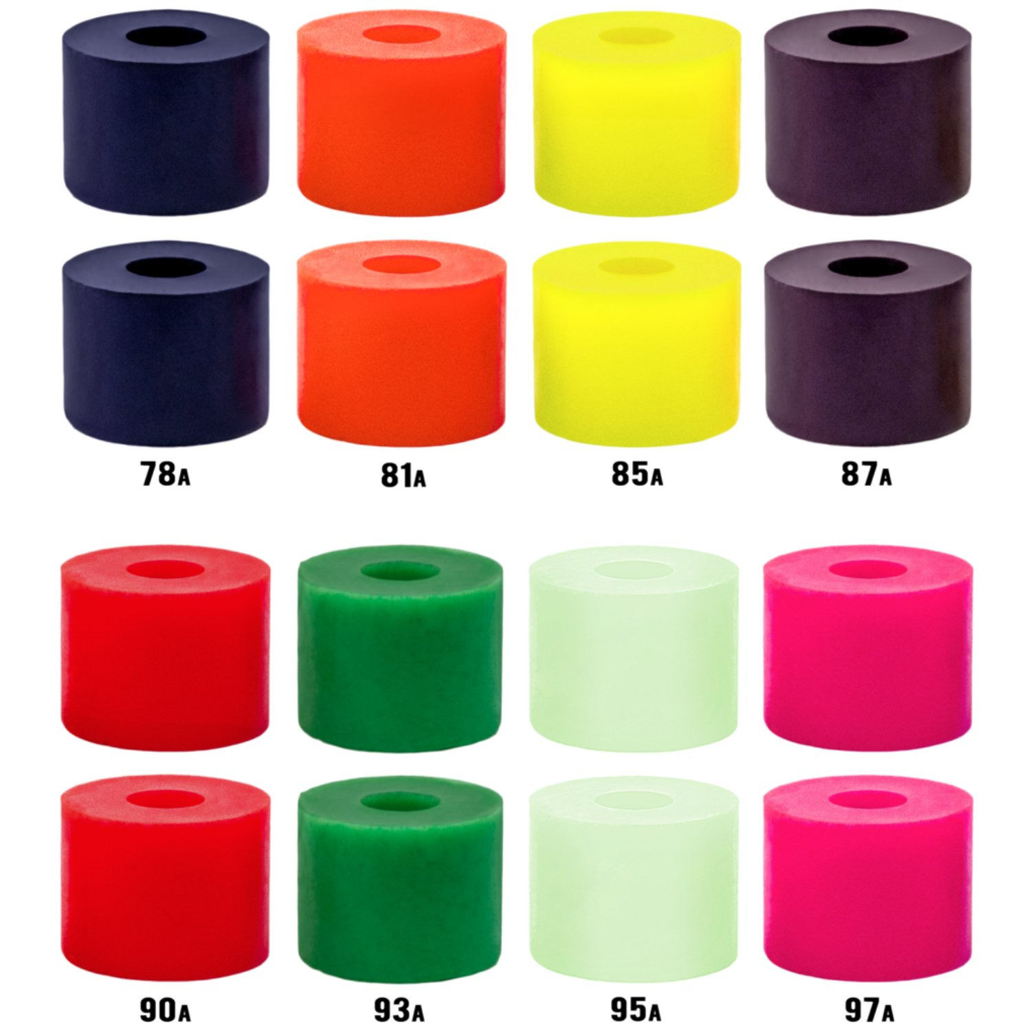 Venom Bushings - High Performance Formula [All Durometers & Shapes] for Skateboards, Longboards (Tall Barrel, 90a - Red)