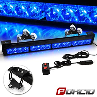 "FOXCID 18"" 16 LED Hazard Emergency Warning Tow Traffic Advisor Flash Strobe Directional Light Bar with Cigarette Lighter: Automotive"