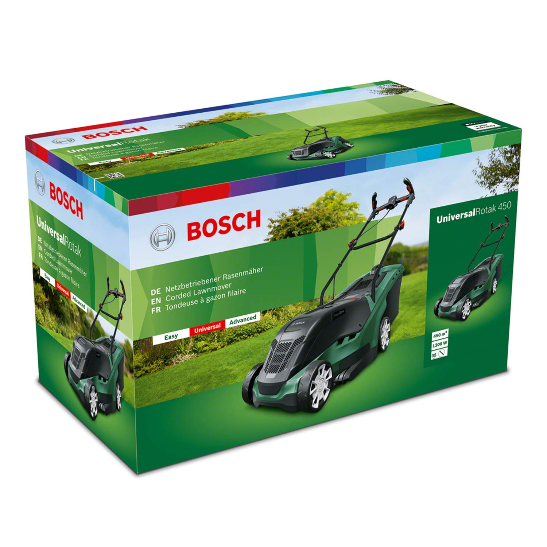 Bosch Cortacésped eléctrico UniversalRotak 450, 1300W, 450m², caja ...