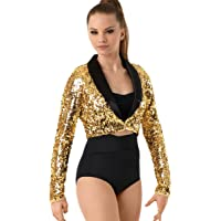 37d2038dc8 Balera Jacket Girls Blazer For Dance Sequin Long Sleeve Tuxedo Jacket
