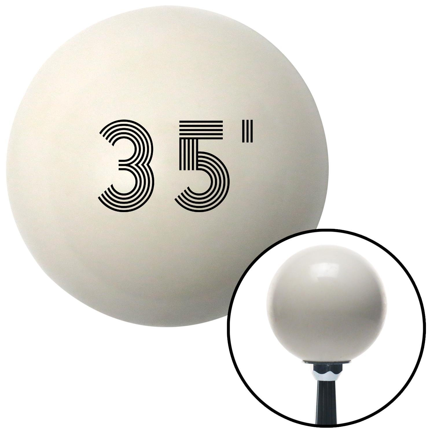 Black 35 Year Retro Series American Shifter 142309 Ivory Shift Knob with M16 x 1.5 Insert