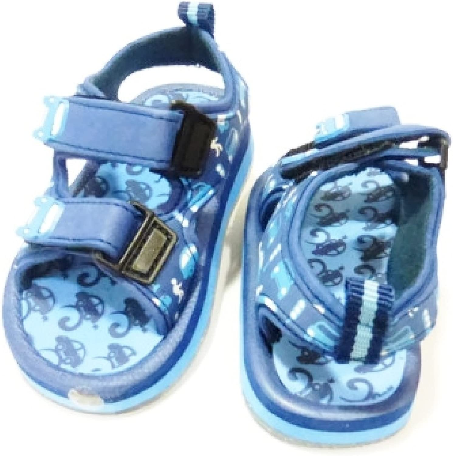 Blue Cars Theme Sandals for Baby Boy 30-36 Months 6length