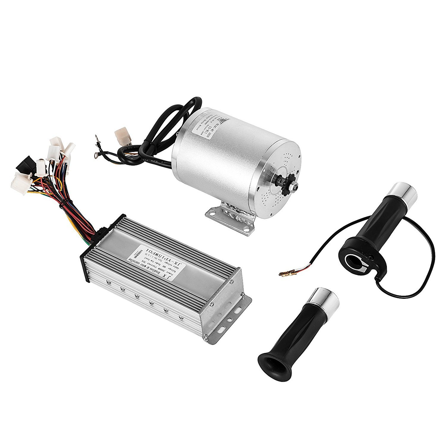 BestEquip 1800W 48V High Speed Electric Brushless DC Motor with 32A Brushless Speed Controller and Throttle Grip Kit for Go Kart Moped Mini Bikes (with 32A Speed Controller and Throttle Grip Kit) by BestEquip