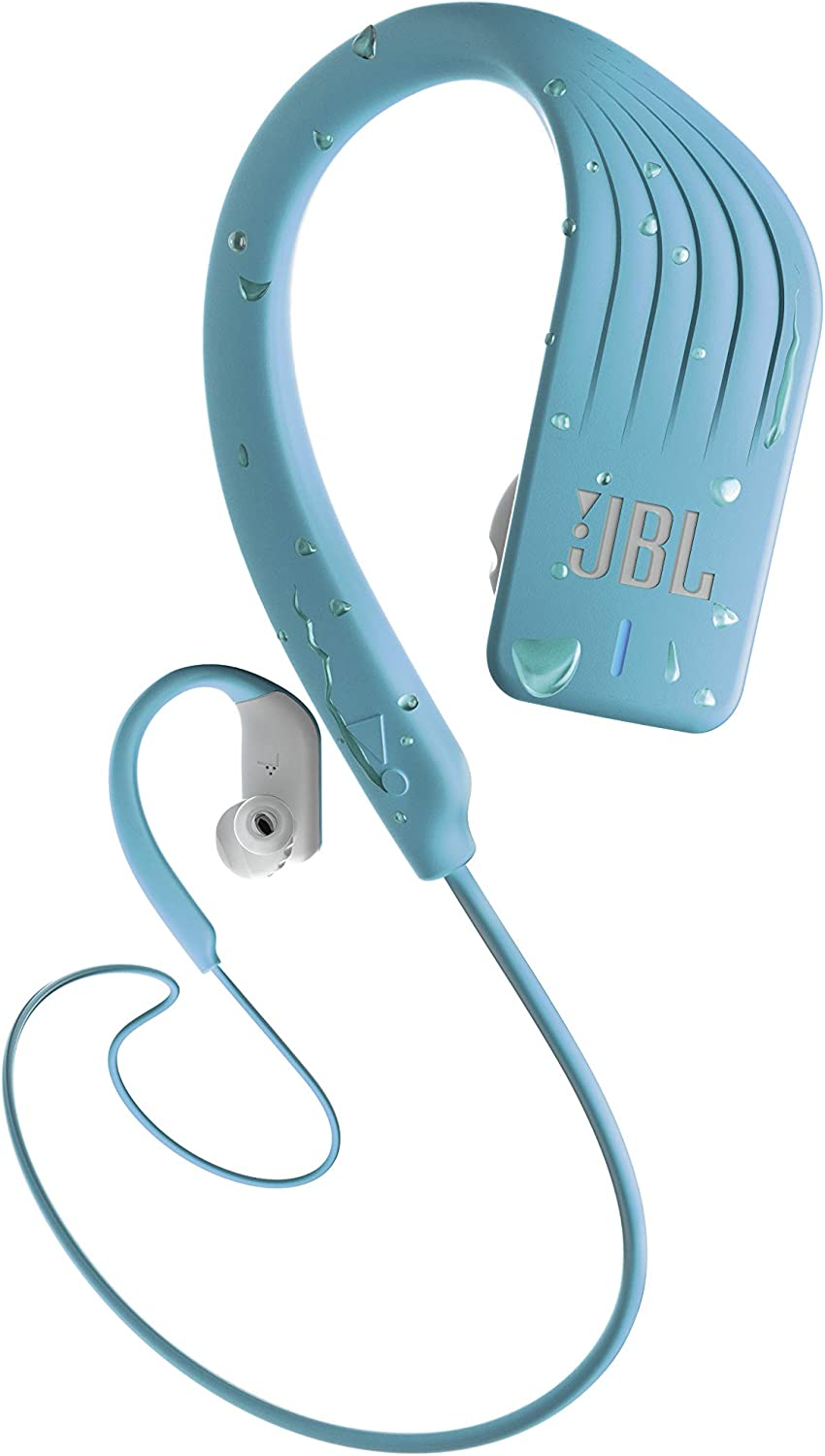JBL ENDURANCE SPRINT - Wireless headphones, bluetooth sport earphones with microphone, Waterproof, up to 8 hours battery, quick charge, works with Android and Apple iOS (Teal)