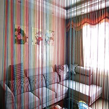 EXIU Rideau fil Multicolore Décoration de la Maison Taille 200 x 100 ...